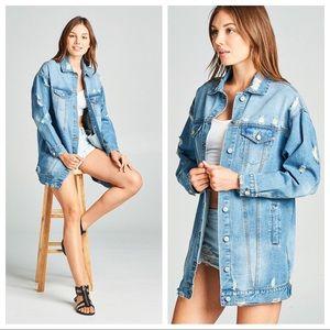 Jackets & Blazers - Oversized Denim Jacket